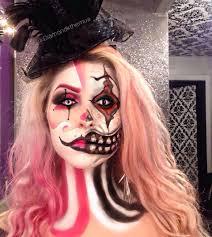 double clown face evil clown clown clown makeup