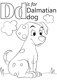 Small Picture Letter D is for Dalmatian Dog coloring page Free Printable