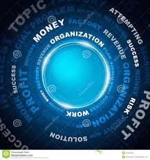 Circle And Business Words Stock Illustration Illustration Of Profit