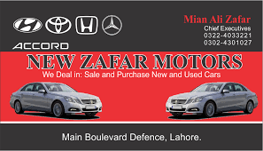Design Print Web: Zafar Motors Business Card Design, Car Dealer ...