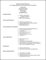 Sample Resume For Graduates Sample High School Resume for College aurelianmg 50