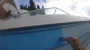 boat restoration painting roll and tip thunderbird tri hull sunny daze episode 14
