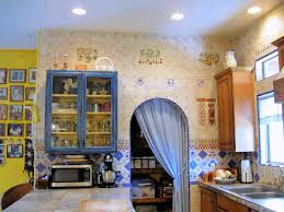 decorative kitchen wall tiles. European Style Country Kitchen East Wall. Blue And White Hungarian Embroidery Tile Art Designs And. WallView Of The Pantry Entrance Decorative Wall Tiles