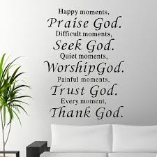 praise trust thank wall decals quote sticker room decor removable vinyl