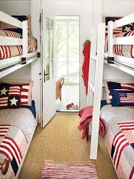 bedroom colors blue and red. Modren Red Decorating With Color Red White And Blue  Patriotic Theme In A Bunk Room To Bedroom Colors And Red