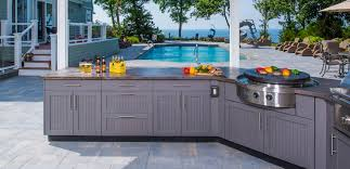 brown jordan outdoor kitchen features outdoor stainless steel cabinets