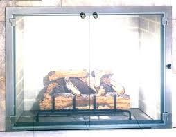 fireplace door installation fireplace