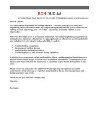 Engineering Technician Cover Letter Template Cover Letter