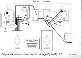 hofner 500 1 bass guitar schematic diagram version 1 0 as wired by hofner