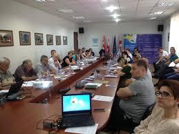 during the discussion tea kunchulia representative of minister of economy and sustainable development of georgia irakli tabliashvili media expert