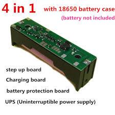 details about 4 in 1 dc 5v 9v 12v 5w ups raspberry pi 18650 battery charging step up board