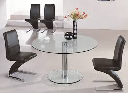 round oak and glass dining table room furniture set