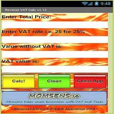 Vat Calculation Formula In Excel Download Backward Vat Calculator Accounting Finance Blog