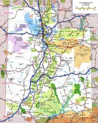 large detailed roads and highways map of utah state with national