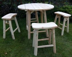 high top patio table set furniture round white wooden outdoor high top table with four legs high top patio table