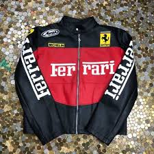 We are the suppliers of a vast range of motorcycle leather jackets, fashion leather jackets & racing leather jackets. Ferrari Vintage Leather Jacket Big Logo For Woman Gem