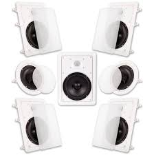 9 acoustic audio ht 67 7 1 in ceiling surround sound speakers