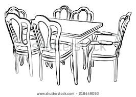 dining room table clipart black and white. Round Table Clipart Black And White Dining Room Fan N