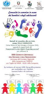 Giornata dei Diritti dell'infanzia, tremila bambini a San Giorgio con l' Unicef - Il Mattino.it