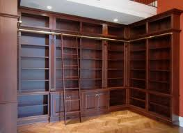 custom made bookcases. Interesting Custom Custom Made Library Bookcases With Ladder On B