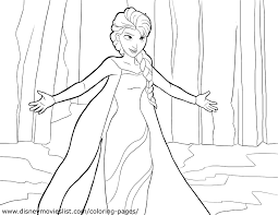 Coloring Pages Disney Princess Frozen Elsa L How To Colo Learn