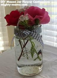 Decorating Mason Jars With Ribbon DIY Mason Jar Flower Centerpiece Mighty Mama 37