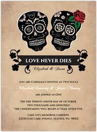 Halloween Wedding Invitations Day Of The Dead Skulls Halloween Wedding Invitation Halloween