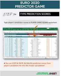 JS801-SS-XL ◉ UEFA EURO 2020/2021 PREDICTOR GAME - journalSHEET