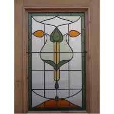 sd001 original art nouveau stained glass exterior