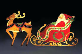 santa sleigh outdoor decoration lights sleigh train outdoor figures santa sleigh reindeer rooftop decoration outdoor