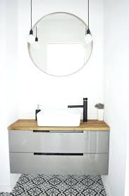 Round Bathroom Mirror With Shelf Inspirati White Bathroom Mirror