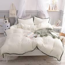 white pink gray blue light green cotton yarn duvet cover set for queen size bedding set bed sheet linen pillowcases toddler bedding set navy blue duvet