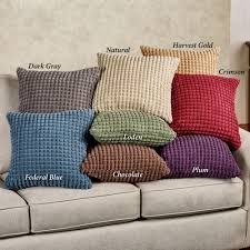 premier puff solid color decorative pillows
