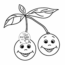 Small Picture Print Funny Apples On Branch Page For Kids Fruits Funny Coloring