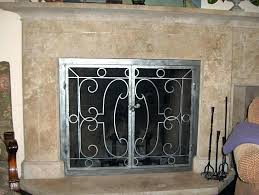 fireplace curtain screens hearth fireplace screen curtain