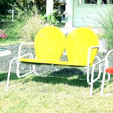 yellow patio furniture. Retro Patio Furniture Lawn Chair Extraordinary  Vintage Metal Chairs Yellow