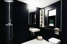 bathroom tiles black and white. Unique Black Black Wall Tiles Bathroom White Floor Tile Shelves Shower Throughout Bathroom Tiles Black And White