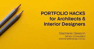 Design Architecture Portfolio Hacks