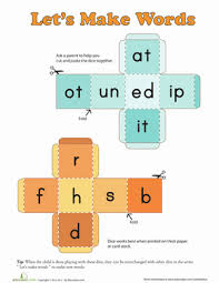 Phonics worksheet makers, worksheet templates, reading worksheets, phonics exercises to print. Word Dice Worksheet Education Com