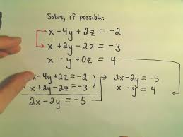 systems of linear equations inconsistent systems using elimination by addition example 3 you