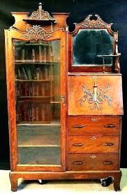 desks vintage secretary desk with hutch kitchen antique sideboards hu