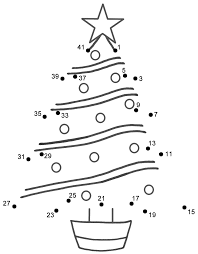 Christmas Tree - Connect the Dots, count by 2's, starting at 1 (Christmas)