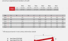 Specialized Bike Frame Size Chart Specialized Frame Size Chart 2018 Lajulak Org