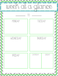 25 Week At A Glance Template Ready Monoday Info