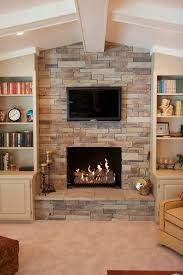 Stacked Stone Fireplace Of Fireplace Stone Wall Tile Decorations Stacked Stone Veneer Fireplace