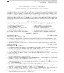 Resume Pdf Mesmerizing Project Manager Resume Pdf Managers Construction Sample Com