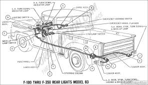 ford truck technical drawings and schematics section h wiring Of Light Switch Wiring Diagram For 1963 Chevy 1969 f 100, f 250 rear lights (model 83) 01