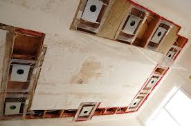 pot light housings installed in ceiling