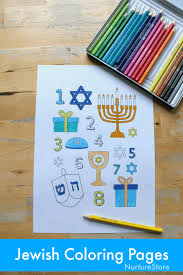 Printable Jewish Coloring Pages For Hanukkah Nurturestore