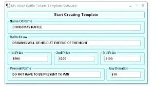 Template Raffle Tickets Free Download Fundraiser Ticket Template Free Download